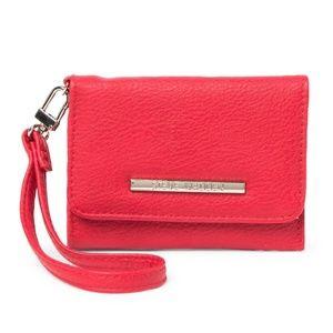 Steve Madden Red French Wristlet Wallet